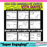 """Doodle-It Notes: Templates: """"Notes with Quotes"""""""