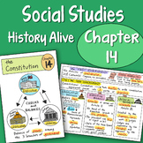 FREE! Doodle Fold - The Constitution - Chapter 14 History