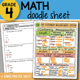 Doodle Notes - The Customary Measurement System - So EASY to Use!