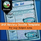 Doodle Notes Unit Review Template (For any subject)