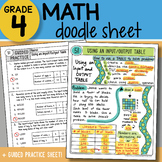 Math Doodle - Using an Input/Output Table - So EASY to Use! PPT Included