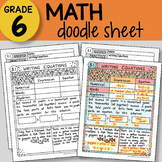 Math Doodle - Writing Equations -  EASY to Use Notes - PPT included!