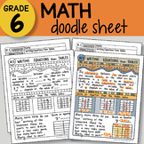 Math Doodle - Writing Equations from Tables - EASY to Use