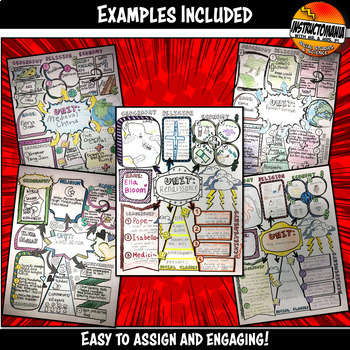 Doodle Notes for Ancient and World History Summary Activity