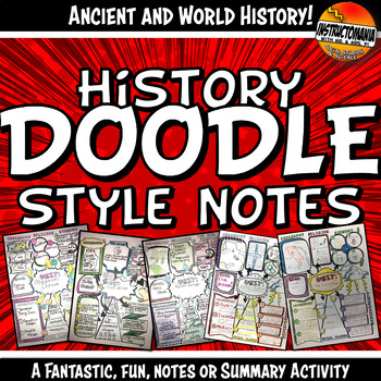 Doodle Style Notes for Ancient and World History Summary Activity
