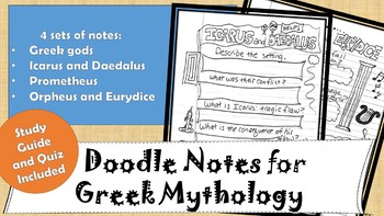 Doodle Notes for Greek Mythology