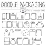 Doodle Packaging by Bunny On A Cloud (This is a doodle font!)