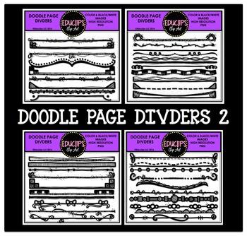 Doodle Page Dividers Clip Art Bundle  {Educlips Clipart}