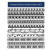 Doodle Page Dividers Clip Art - Hand Drawn