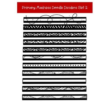 Doodle Page Dividers Clip Art Set 2