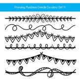 Doodle Page Dividers Clip Art Set 4