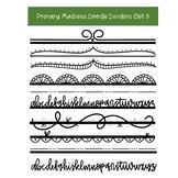 Doodle Page Dividers Clip Art Set 3