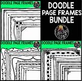 Doodle Rectangular Page Frames Clip Art Bundle  {Educlips Clipart}