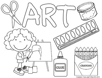 First Day of School Activities Subject Binder Coloring Pages Let's Doodle