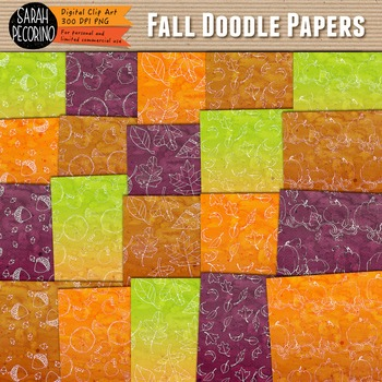 Doodle Paper: Fall Colors and Icons