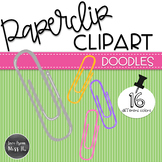 Doodle Paperclips Clipart