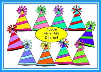 Doodle Party Hats Clip Art
