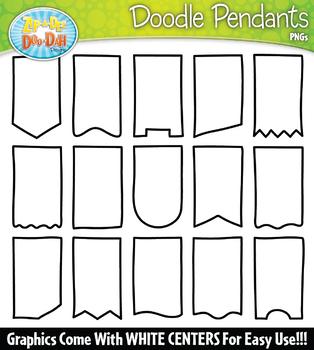 Doodle Pendants Clipart Set {Zip-A-Dee-Doo-Dah Designs}