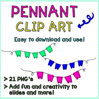 Doodle Pennant Clip Art