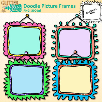 Doodle Picture Frame Clip Art {Free Borders for Worksheets & Resources}