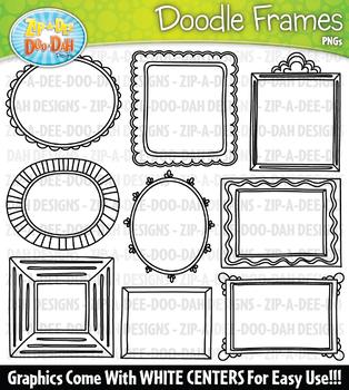 Doodle Picture Frames Clipart Set 2 {Zip-A-Dee-Doo-Dah Designs}