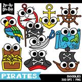Pirates Doodles Clipart Set {Zip-A-Dee-Doo-Dah Designs}