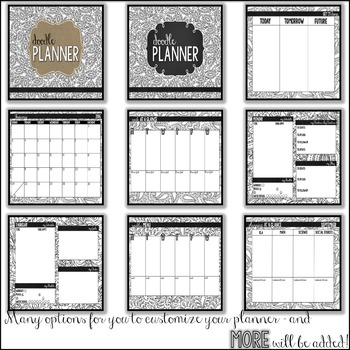 Doodle Planner - Coloring Planner for Teachers and TPT Sellers