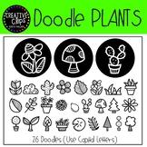 Doodle Plants FONT {Creative Clips Clipart}