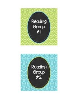 Doodle Reading Group Labels