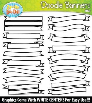 Doodle Ribbons Clipart Set 2 {Zip-A-Dee-Doo-Dah Designs}
