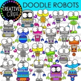 Doodle Robot Clipart (Creative Clips Clipart)
