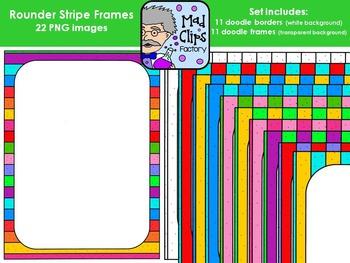 Doodle Rounder Stripes Frames