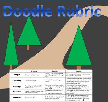 Doodle Rubric: Fun Worksheet to Introduce Rubric Use