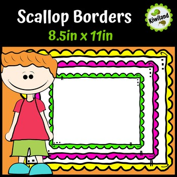 Doodle Scallop Borders Frames