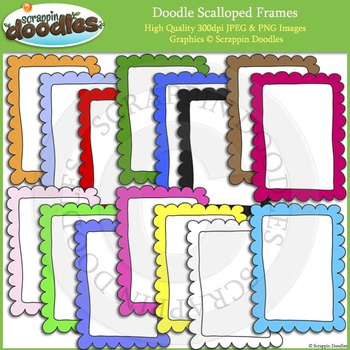 Doodle Scalloped Frames / Borders