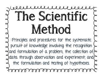 Scientific Method Posters in Doodle