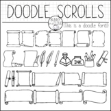 Doodle Scrolls by Bunny On A Cloud (This is a doodle font!)