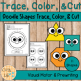 Doodle Shapes Trace, Color, and Cut