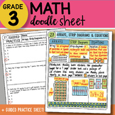 Doodle Sheet - Arrays, Strip Diagrams and Equations - EASY to Use Notes w/PPT