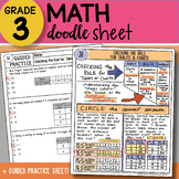 Doodle Sheet - Checking the Rule for Tables and Charts - EASY to Use Notes!