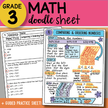 Doodle Sheet - Comparing Numbers - So EASY to Use - PPT Included!