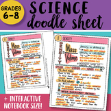 Doodle Sheet - Density - EASY to Use Science Notes - with