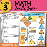 Doodle Sheet - Inverse Operations - EASY to Use Notes - PP