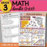Doodle Sheet - Multiplication Properties - EASY to Use Notes - PPT Included