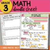 Doodle Sheet - Multiplying 2 Digit by 1 Digit Numbers - EA