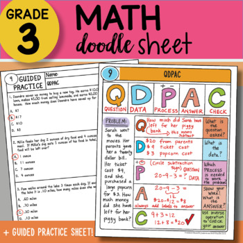 Doodle Sheet - QDPAC - So EASY to Use! PPT Included
