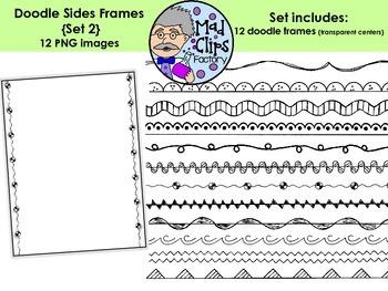 Doodle Sides Set 2 {Side-Only Frames}