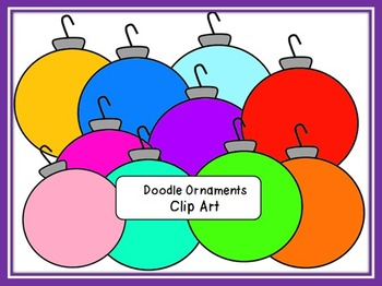 FREE Doodle Solid Christmas Ornaments Clip Art