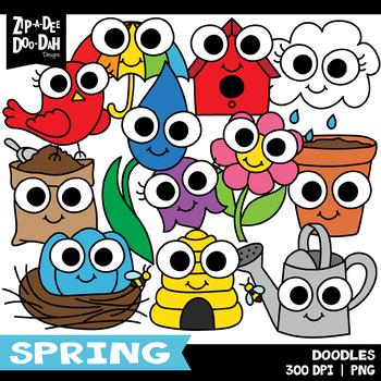 Doodle Spring Clipart Set {Zip-A-Dee-Doo-Dah Designs}