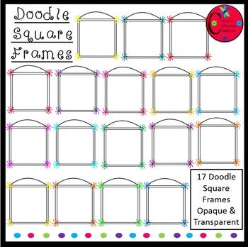 Doodle Square Frames